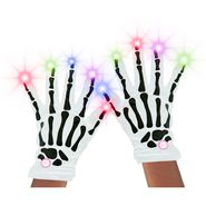 Skeleton Night Glow Gloves - White at Kmart.com