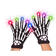 Skeleton Night Glow Gloves - Black at Kmart.com