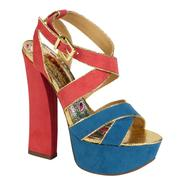 Bongo Women's Anastasia Colorblock Dress Sandal - Blue/Pink at Kmart.com