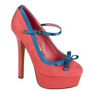 Bongo Women's Bridget Bow Platform Pump - Hot Pink/Turquoise at Kmart.com