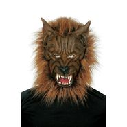 Totally Ghoul Wolf mask with Hair - Brown Wolf Halloween Costume Accessory at Kmart.com