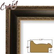 "Craig Frames Inc 11"" x 17"" Black and Gold Distressed Ornate Finish 1.75 Inch Wide Picture Frame (9599) at Kmart.com"