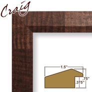 "Craig Frames Inc 24"" x 36"" Walnut Parquet Brown Smooth Wood Grain Finish 1.5 Inch Wide Picture Frame (17041) at Kmart.com"