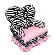 Newco International Princess Heart Chair Minky Zebra/Hot Pink at Kmart.com