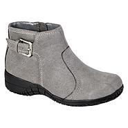 Basic Editions Women's Fawn Fashion Boot Wide Width - Grey at Kmart.com