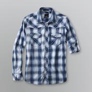 Various Artists Young Men's Button Down Shirt - Plaid at Sears.com