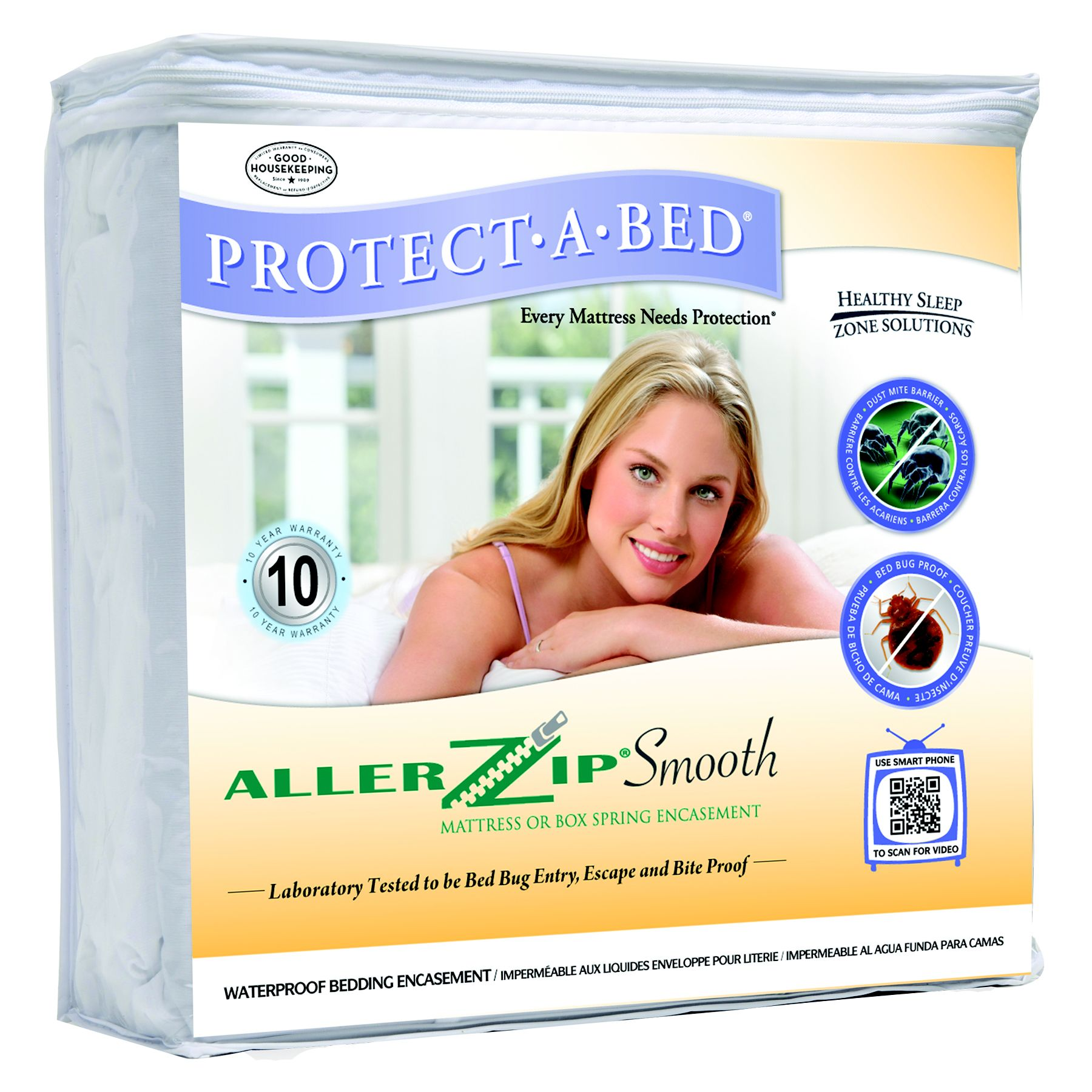 ALLER ZIP (Smooth) Mattress or Box Spring Encasement