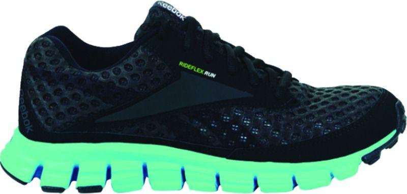 Reebok Women\u0027s Smoothflex CushRun Running Athletic Shoe - Black/Green/Blue