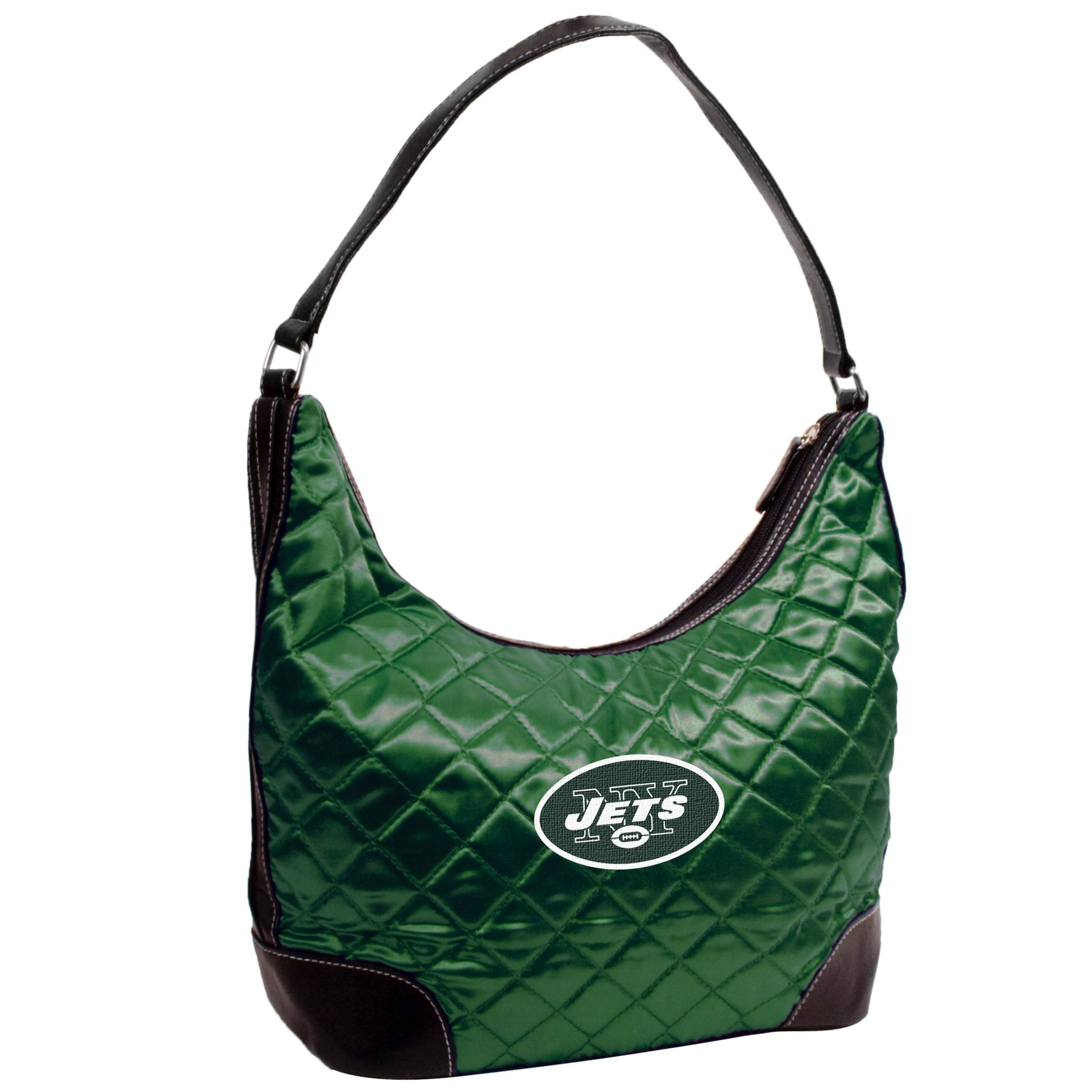 Little Earth New York Jets Quilted Hobo Handbag
