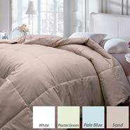 Down and Feather Blend Solid Color Microfiber Comforter- Full/ Queen- Color White at Sears.com