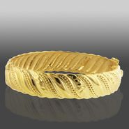 Romanza 12mm Hammer Swirl Bangle Bracelet set in Gold over Bronze at Sears.com