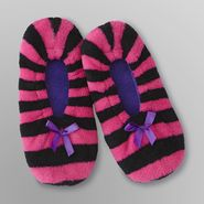 Joe Boxer Women's Fleece Gripper Slippers - Stripes at Kmart.com