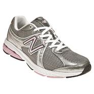 New Balance Women's 665 Komen Walking Athletic Shoe Wide Avail - Silver/Pink at Sears.com