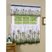 "Home Sweet Home  - Tier and Valance Set - Multi Available in 24""  Set and 36"" Set at Sears.com"