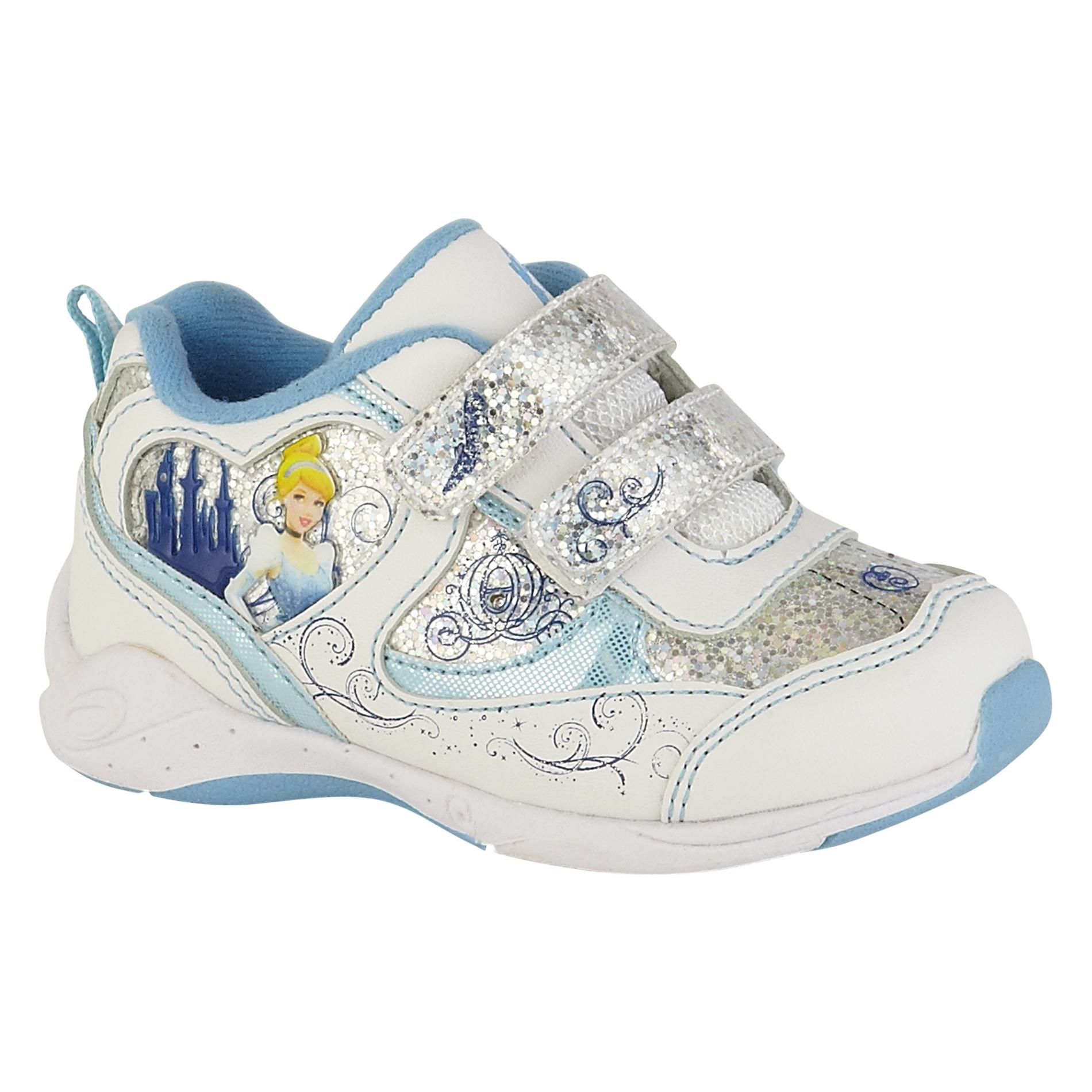 Toddler Girl's Cinderella Athletic Shoe - White