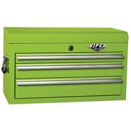 "Viper Tool Storage 26"" 3 Drawer 18G Steel Top Chest, Lime at Sears.com"