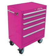 "The Original Pink Box 26"" 5 Drawer 18G Steel Rolling Cabinet, Pink at Sears.com"