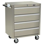 "Viper Tool Storage 26"" 4 Drawer 304 Stainless Steel Rolling Cabinet at Sears.com"