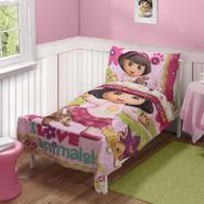Nickelodeon Dora The Explorer Toddler 4 Pc Bedding Set at Kmart.com