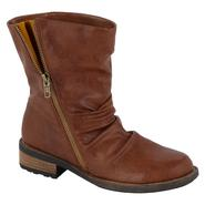 Qupid Women's Relax-85 Flat Fashion Boot - Cognac at Sears.com
