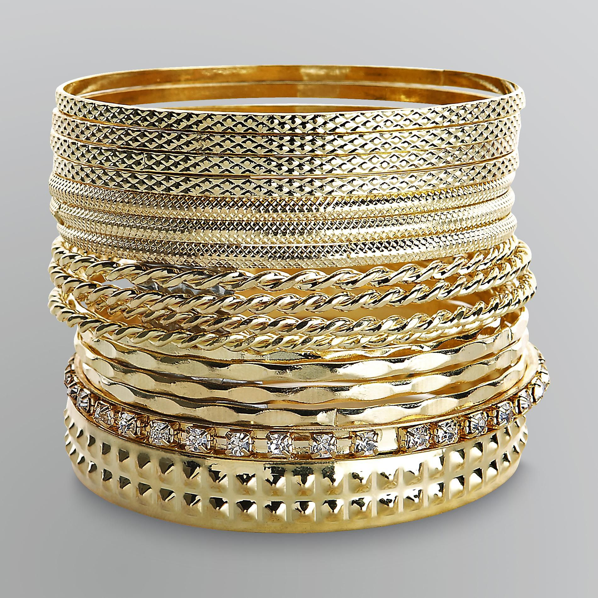Junior's 17-Pc. Bangle Bracelets - Goldtone