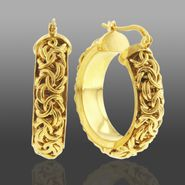 Romanza Byzantine Hoop Earrings set in Gold over Bronze at Sears.com