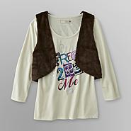 Route 66 Girl's Long-Sleeve T-Shirt & Vest Set - Free at Kmart.com