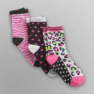 Joe Boxer Girl's Ankle Socks - 3 Pairs at Sears.com