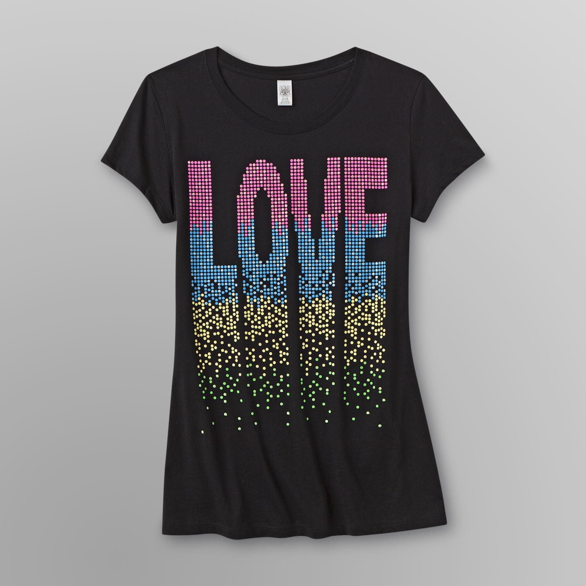 Hybrid Junior's Graphic T-Shirt - Fall in Love at Sears.com