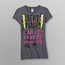 Hybrid Junior's Graphic T-Shirt - News Flash at Sears.com