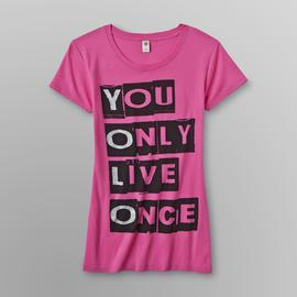Hybrid Junior's Graphic T-Shirt - YOLO at Sears.com