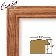 "Craig Frames Inc 18x24 Complete 1.25"" Wide Honey Oak Solid Wood Picture Frame (59504100) at Kmart.com"