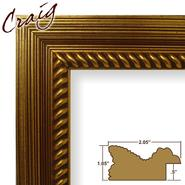 "Craig Frames Inc 18"" x 24"" Rich Gold Painted Ornate Wood Grain Finish 2.125 Inch Wide Picture Frame (77845400) at Kmart.com"