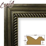 "Craig Frames Inc 20"" x 30"" Silver Painted Ornate Wood Grain Finish 2.125 Inch Wide Picture Frame (77845450) at Kmart.com"