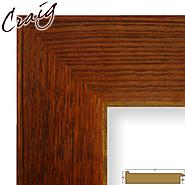 "Craig Frames Inc 14"" x 16"" Rich Brown Wood Grain Finish 3.5 Inch Wide Picture Frame (80573923) at Kmart.com"
