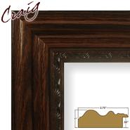 "Craig Frames Inc 20"" x 24"" Dark Oak Brown Ornate Wood Grain Finish 2.75 Inch Wide Picture Frame (81373100) at Kmart.com"