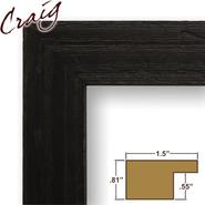 "Craig Frames Inc 9x20 Custom 1.5"" Wide Black Wood Picture Frame (1.5DRIFTWOODBK) at Kmart.com"