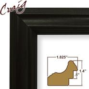 "Craig Frames Inc 9x12 Custom 1.825"" Wide Complete Black Wood Picture Frame (262BK) at Kmart.com"