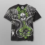 Sinister Men's Graphic T-Shirt - Snake Skull at Kmart.com