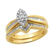 Eternal Treasures Gold over Silver 1/4ct Marquise Diamond Eternal Treasures Bridal Set at Kmart.com