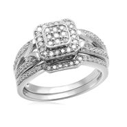 Eternal Treasures Sterling Silver 1/2cttw Diamond  Eternal Treasures Bridal Ring at Kmart.com