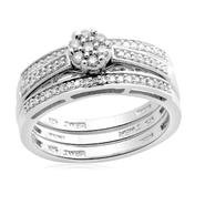 Eternal Treasures Sterling Silver 1/4ct Round Diamond Eternal Treasures Bridal Set at Kmart.com