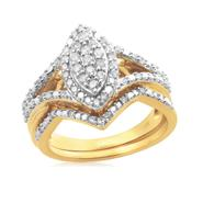 Eternal Treasures Gold over Silver 1/2ct Marquise Diamond Eternal Treasures Bridal Set at Kmart.com