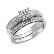 Eternal Treasures Sterling Silver 1/4ct Princess Diamond Eternal Treasures Bridal Set at Kmart.com