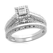 Eternal Treasures Sterling Silver 1/3ct Princess Diamond Eternal Treasures Bridal Set at Kmart.com