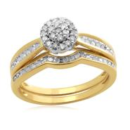 Eternal Treasures Gold over Silver 1/4ct Round Diamond Eternal Treasures Bridal Set at Kmart.com