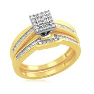 Eternal Treasures Gold over Silver 1/4ct Princess Diamond Eternal Treasures Bridal Set at Kmart.com