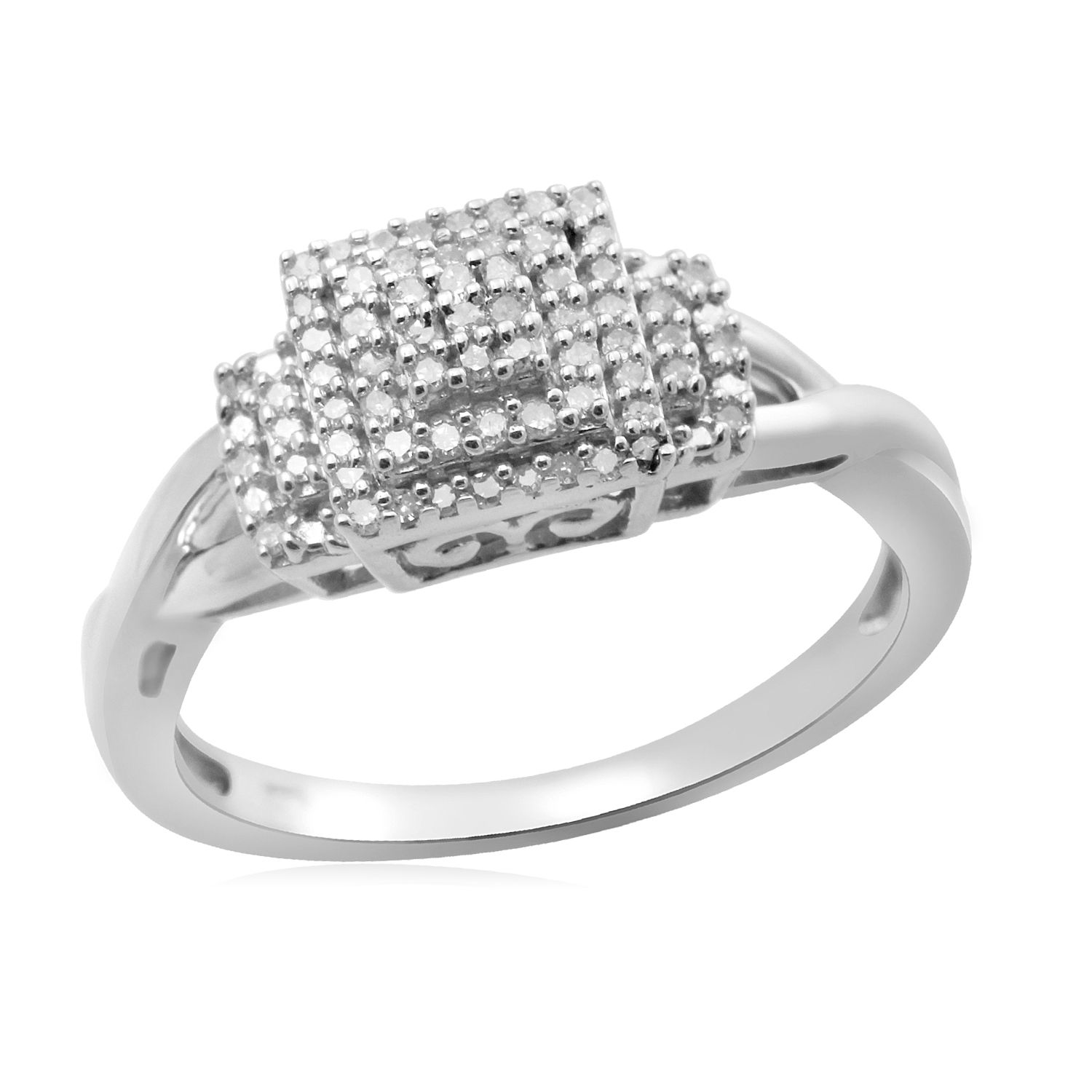 Eternal Treasures Sterling Silver 1/6ct Round Diamond Eternal Treasures Promise Ring