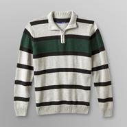 Basic Editions Boy's Zip Sweater - Striped at Kmart.com