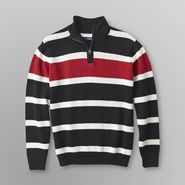 Basic Editions Boy's Quarter-Zip Sweater - Stripes at Kmart.com